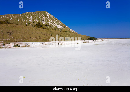China clay waste and settling area; Cornwall - Stock Photo