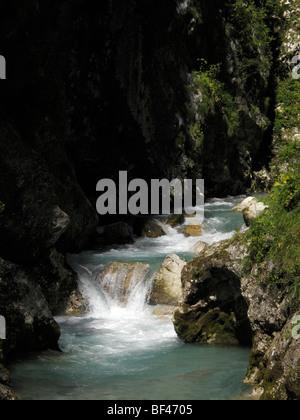 The Tolmin River in Slovenia - Stock Photo