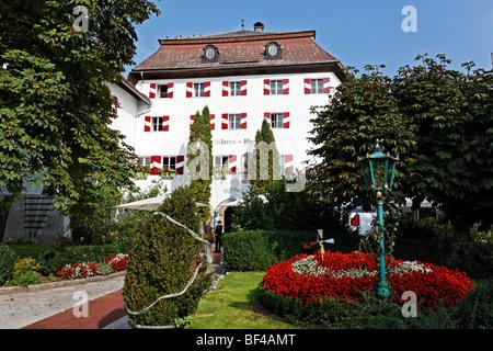 Schlosshotel Iglhauser castle hotel, Mattsee, Flachgau, Salzburger Land region, Salzburg, Austria, Europe - Stock Photo