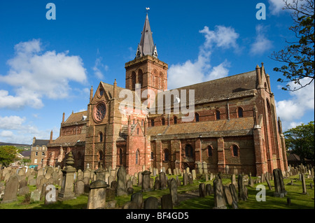 St. Magnus Cathedral, Kirkwall, Orkney Islands, Scotland, United Kingdom, Europe - Stock Photo