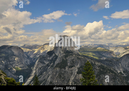 Yosemite National Park view of the valley from Glacier Point - Stock Photo