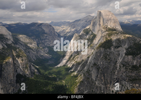 Yosemite National Park view from the Glacier Point - Stock Photo