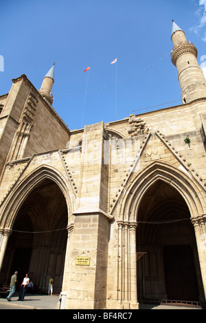 The Selima Mosque ), the former Cathedral of in the  in North Nicosia Cyprus - Stock Photo