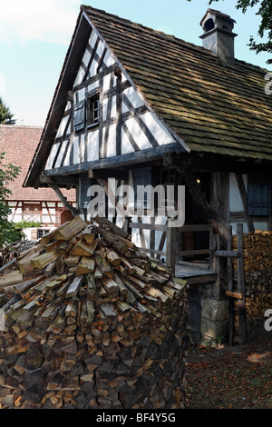 Historic bakery from 1730, Wolfegg Farmhouse Museum, Allgaeu, Upper Swabia, Baden-Wuerttemberg, Germany, Europe - Stock Photo