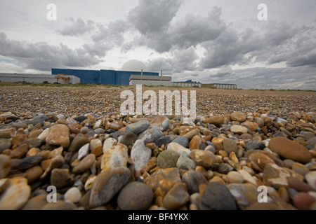 Sizewell Nuclear Power Station in Suffolk - Stock Photo