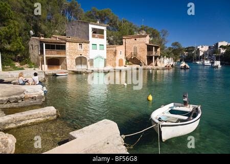 Harbour of Cala Figuera, Mallorca, Majorca, Balearic Islands, Mediterranean Sea, Spain, Europe - Stock Photo