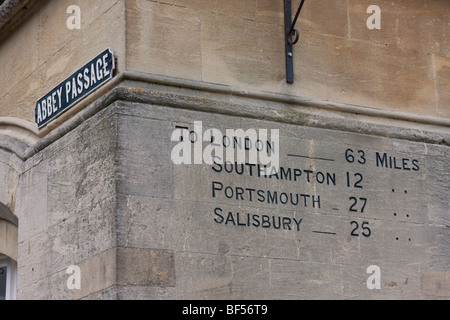Distance to London, seen in Winchester, UK. - Stock Photo