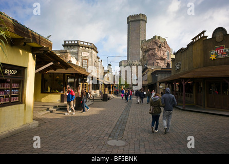 Phantasialand, amusement park, attraction MYSTERY CASTLE, Bruehl, Nordrhein-Westfalen, Germany, Europe - Stock Photo