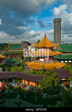 Phantasialand amusement park, attraction MYSTERY CASTLE, Bruehl, Nordrhein-Westfalen, Germany, Europe - Stock Photo
