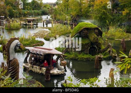 Phantasialand, amusement park, theme park Fantasy, attraction WAKOBATO, Bruehl, Nordrhein-Westfalen, Germany, Europe - Stock Photo