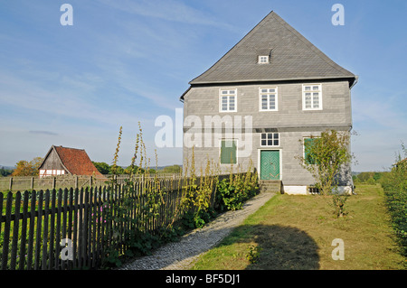 Parsonage, rectory, open-air museum, Westphalian State Museum for Ethnology, Detmold, North Rhine-Westphalia, Germany, - Stock Photo