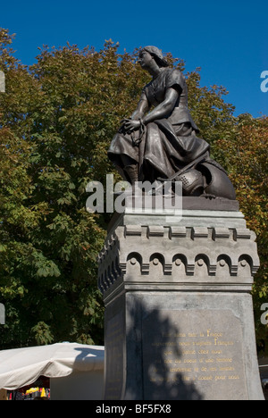 Statue of Joan of Arc, Le Crotoy, Picardy France - Stock Photo