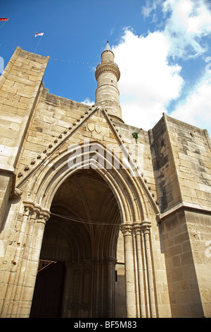 The Selima Mosque in North Nicosia Cyprus - Stock Photo