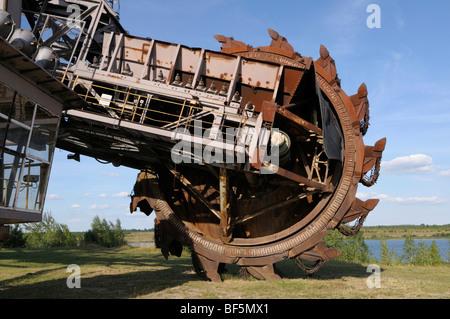 Big Wheel bucket-wheel excavator, Ferropolis, City of Iron, Saxony-Anhalt, Germany, Europe - Stock Photo
