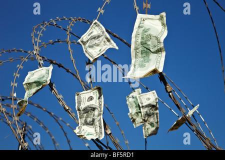 Hundred dollar bills. - Stock Photo