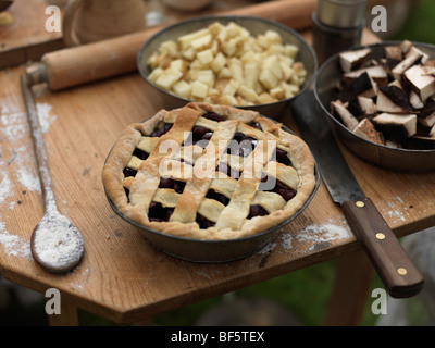 Canada, Ontario, Fort Erie, Old Fort Erie, cherry pie made the old fashion way - Stock Photo