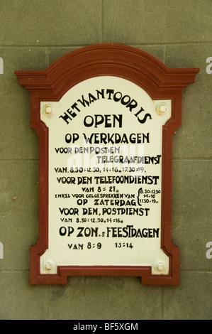 Port Office Enkhuizen Zuiderzeemuseum Netherlands Zuiderzee museum - Stock Photo