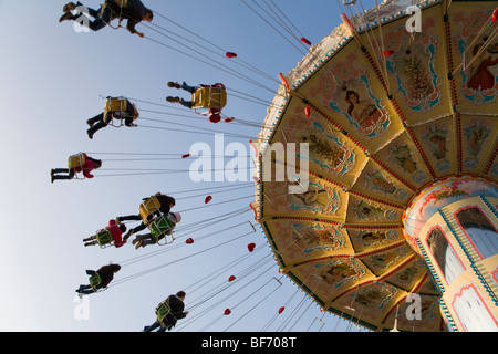 Chairoplane at the fairground of Cannstatter Volksfest in Stuttgart, Baden-Wurttemberg, Germany - Stock Photo