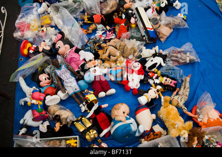 Antique dolls for sale at The Rose Bowl Swap Meet, Pasadena, California, United States of America - Stock Photo