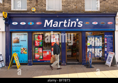The Martin's newsagent shop store in Diss,Norfolk,Uk - Stock Photo