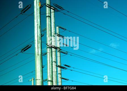 High Voltage wires - Stock Photo