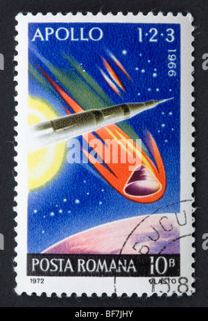 Romanian postage stamp - Stock Photo