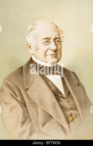 Alexander Mikhailovich Gorchakov 1798 to 1883. Russian statesman. - Stock Photo
