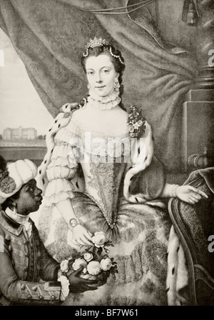 Charlotte of Mecklenburg-Strelitz 1744 to 1818. Queen-consort of United Kingdom as wife of King George III. - Stock Photo
