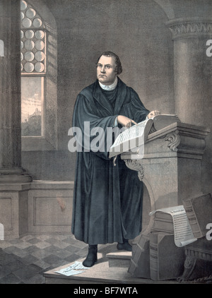 Martin Luther, 1483 to 1546. German theologian. - Stock Photo