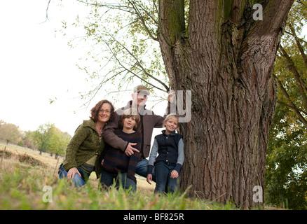 Family portrait , Germany - Stock Photo