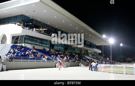 A view of the stadium at the New Rayyan racecourse in Doha, Qatar, during an evening meeting, November 5, 2009 - Stock Photo