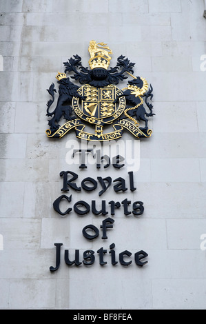 The Royal Courts of Justice. London. UK 2009. - Stock Photo