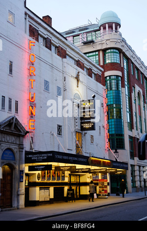 Fortune Theatre on Russell street. London. UK 2009. - Stock Photo