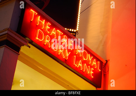 Neon Sign. Theatre Royal Drury Lane. London. UK 2009. - Stock Photo
