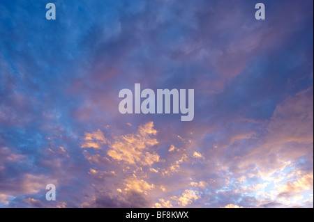Dusk sky with clouds - Stock Photo