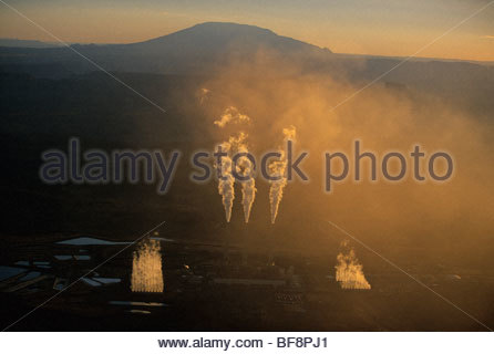 Coal-fueled power plant (aerial), Page, Arizona - Stock Photo