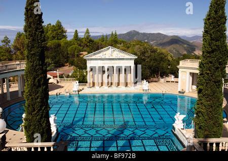 Neptune Pool at Hearst Castle, San Simeon, California, USA - Stock Photo
