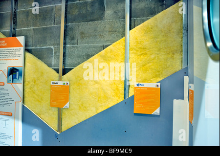 Home Improvements, Trade Show, (Salon Batimat), 'Saint Gobain' Corporation Display, Wall Insulation, Sound, global - Stock Photo