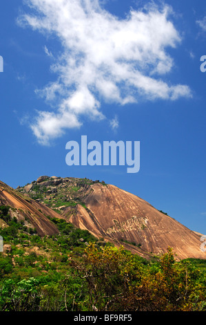 The massive granite dome Sibebe rock near Mbabane, Swaziland - Stock Photo