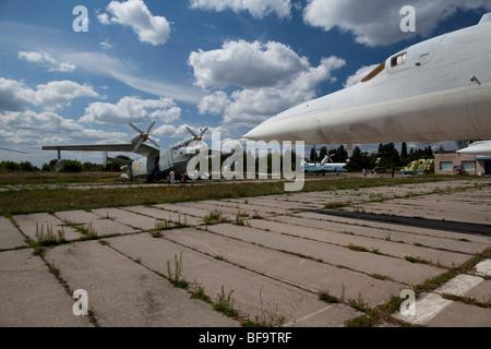 Fuselage of an AS-4B Kitchen Long-range Cruise Missile in the Ukrainian aviation museum in Kiev-Zhulyany. - Stock Photo