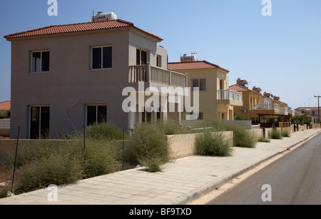 houses under development near xylofagou village between dhekelia and ayia napa republic of cyprus - Stock Photo