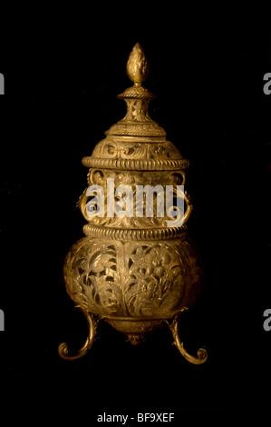Pieter van Roestraten 1680 still live silver perfume burner Museum Netherlands - Stock Photo