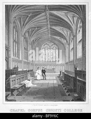 Corpus Christi College, Cambridge – Chapel - Stock Photo