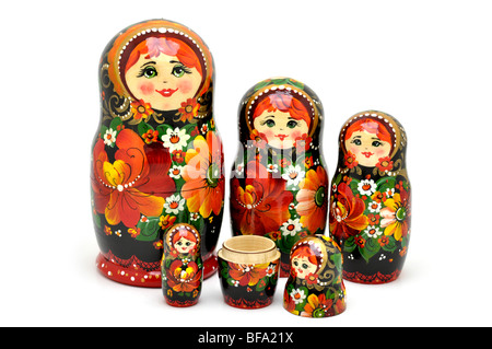 Russian Nesting Dolls -  Matryoshki - Stock Photo