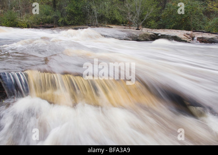 Little River flowing through Rolesville Millpond Natural Area, Rolesville, North Carolina, USA - Stock Photo