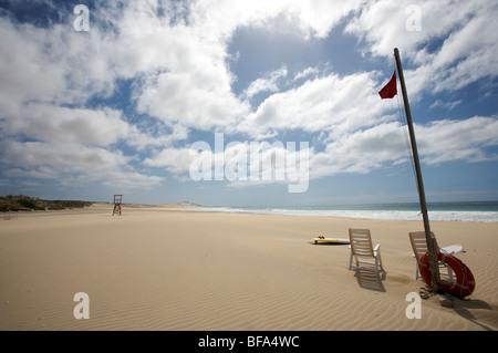 The beach Praia de Chavez, on the west coast of Boa Vista, Cape-Verde - Stock Photo