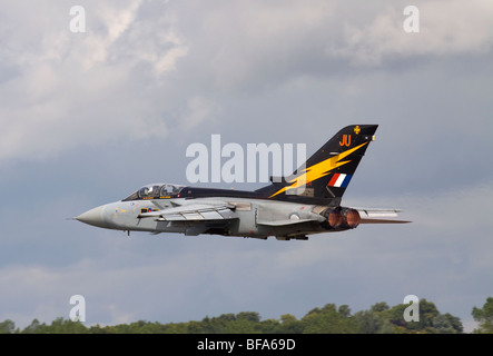 ZE734 Royal Air Force Panavia Tornado F3 jet fighter taking off from Fairford - Stock Photo
