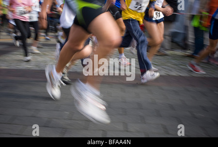 City run through Radevormwald - Stock Photo