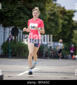 City run through Radevormwald . - Stock Photo