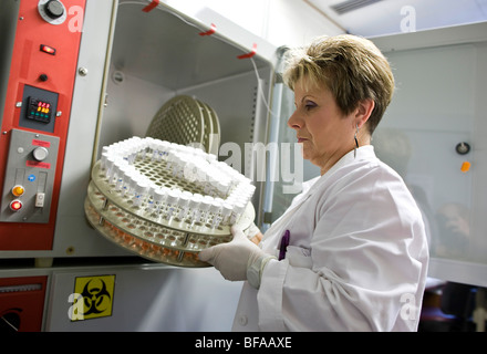 Labour for Clinical diagnostics of influenza viruses at Robert Koch-Institute . Berlin , Germany - Stock Photo